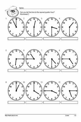 Tell time to the half hour worksheets: Worksheet # 2   Thứ cần mua ...