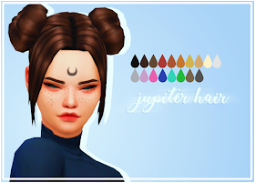 . Jupiter hair Sims, Sims 4 jeux et Mods sims