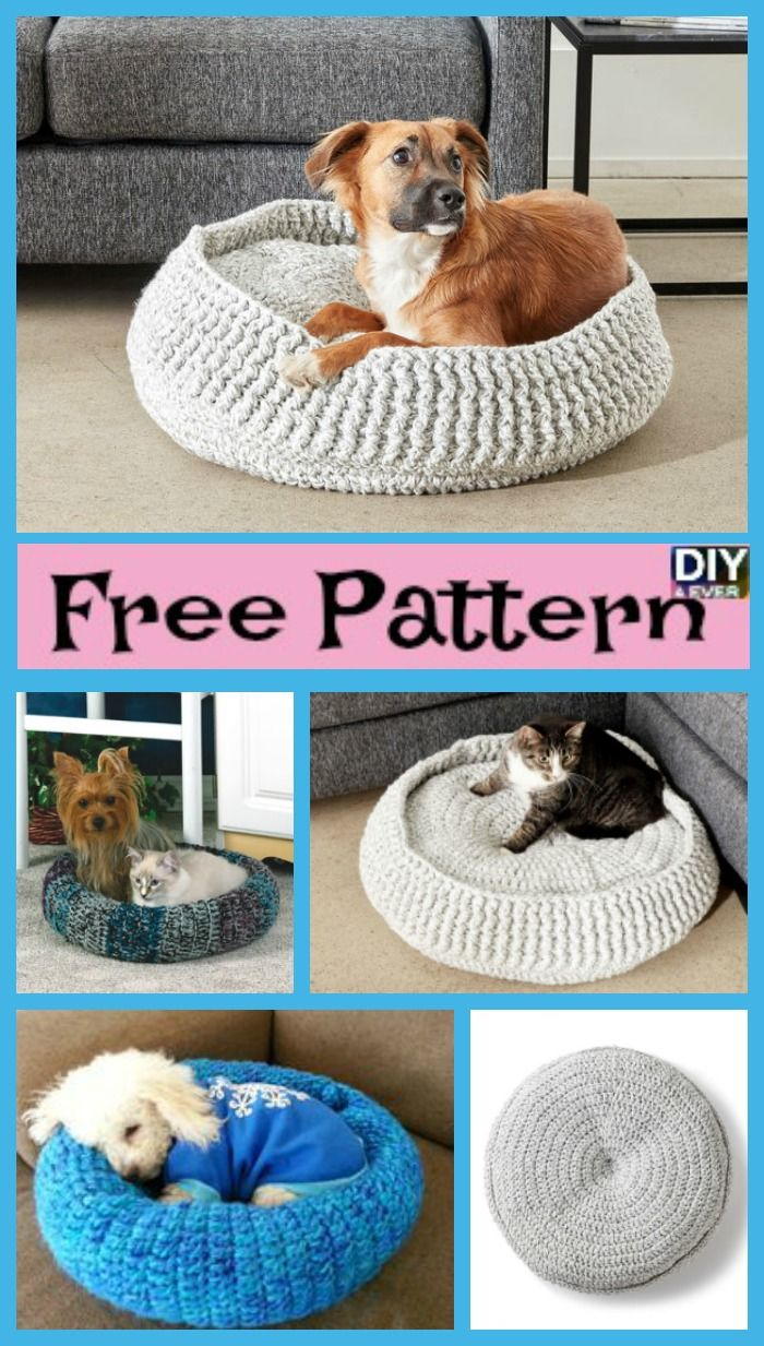 Cozy Crochet Pet Bed - Free Patterns | Crochet pet, Pet beds and ...