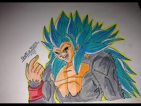 Como Dibujar A Goku Ssj 5 Dios Azul How To Draw Goku Ssj 5 Speed Drawing Goku Ssj 5 Youtube Goku Drawing Drawings Humanoid Sketch