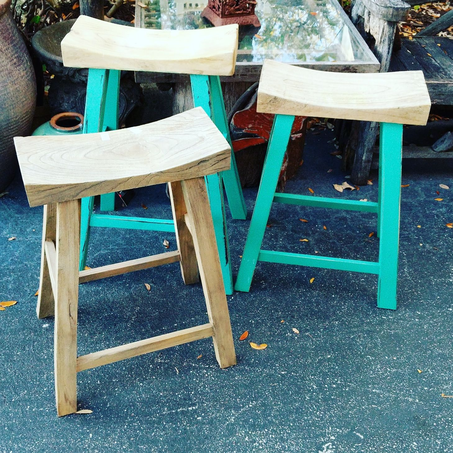 Solid Wood Saddle Stools In Natural And Painted Decor Direct