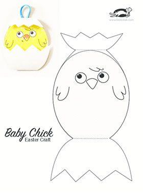 Baby Chick Easter Craft Krokotak Education Easter Crafts
