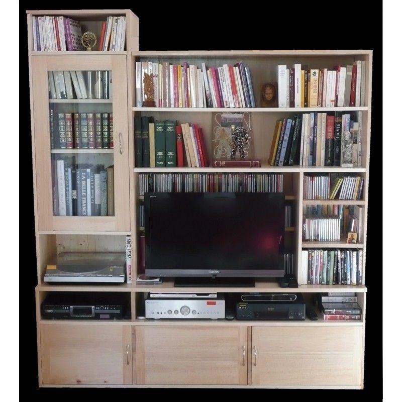 Meuble De Tv Bibliotheque  Intéressantes Pour Meuble Tv Avec