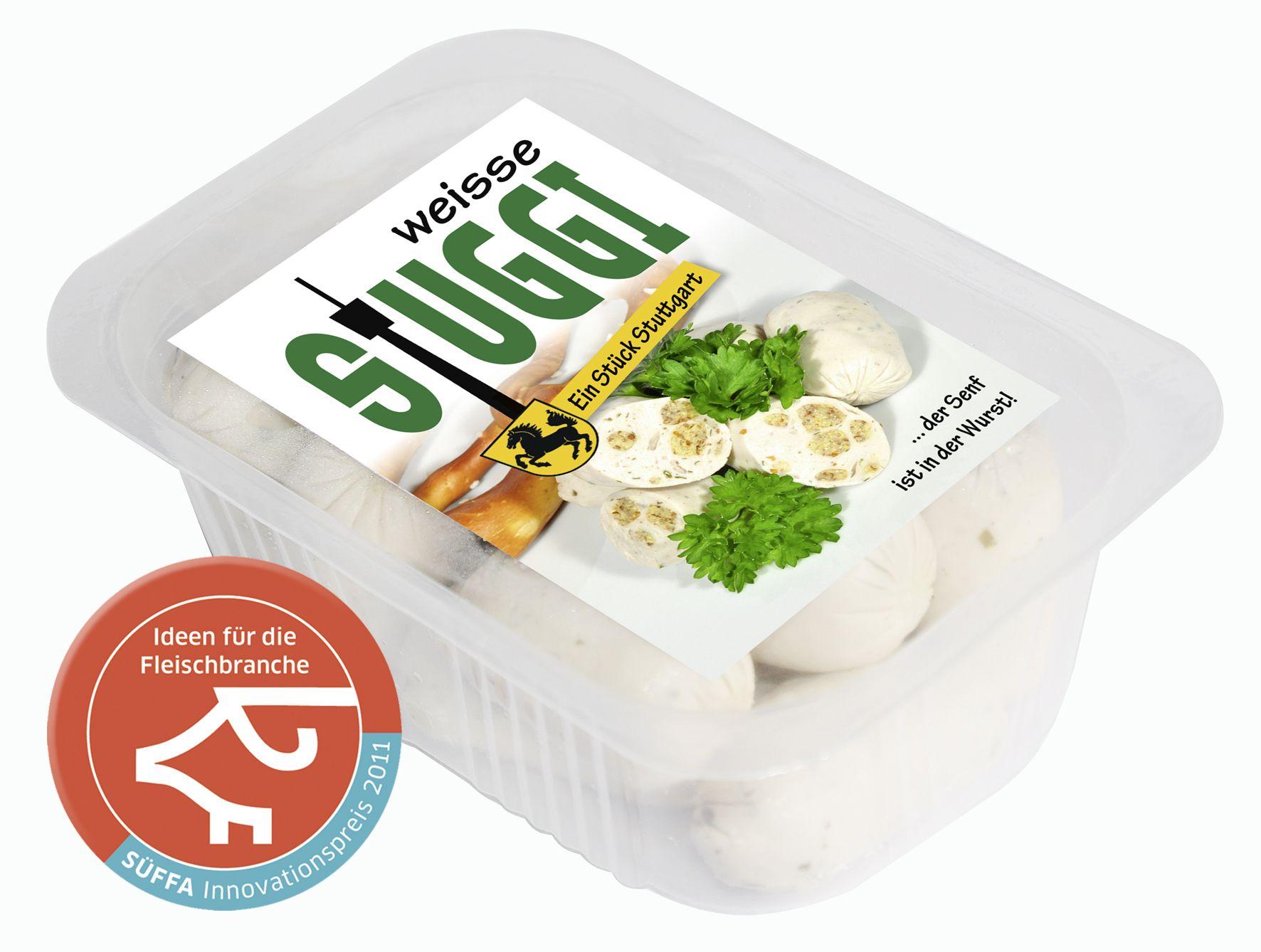 STUGGI - das kleinste Würstchen der Welt mit integriertem Honig Balsamico Senf revolutioniert die LAndeshauptstadt Stuttgart und bringt die Münchner zur weißglut, da diese Innovation einer Weißwurst ähnelt, aber niemals mit dieser Vergleichbar ist.  www.ilovestuggi.de