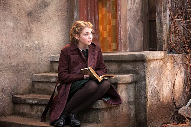 Sophie Nelisse plays Liesel in The Book Thief