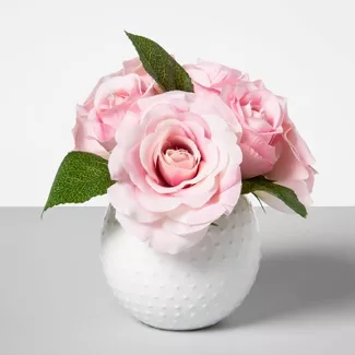 Shop Target For Artificial Flowers Plants You Will Love At Great Low Prices Free Sh In 2020 Artificial Roses Arrangements Faux Flower Arrangements Rose Arrangements
