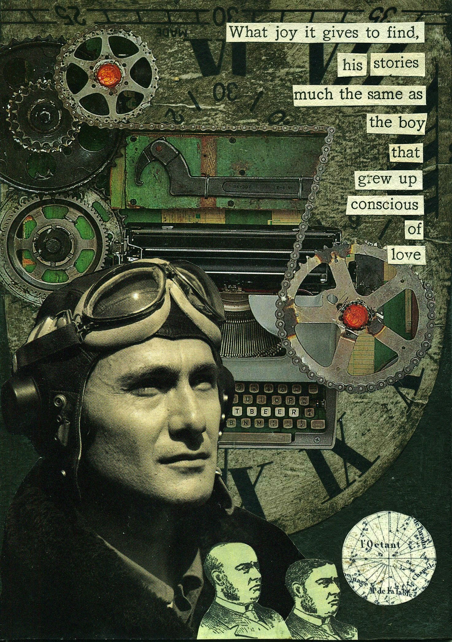 """""""Grown Up Stories"""" 2014 #steampunk collage by Dianne Hoffman http://diannehoffman.net"""