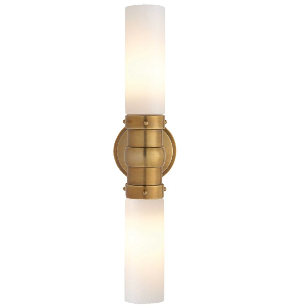 Graydon Double Wall Sconce Bronze Bathroommaster Bathroomwall Lightingpolished Nickelsolid Brassantique Brasswall Sconcesmirrorspowder Room