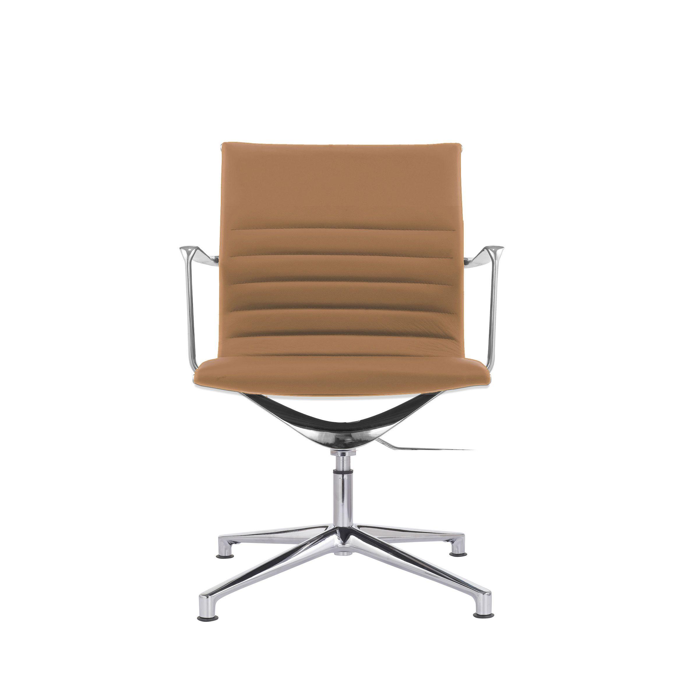Konferenzstuhl 9045 Alu Chair Leder