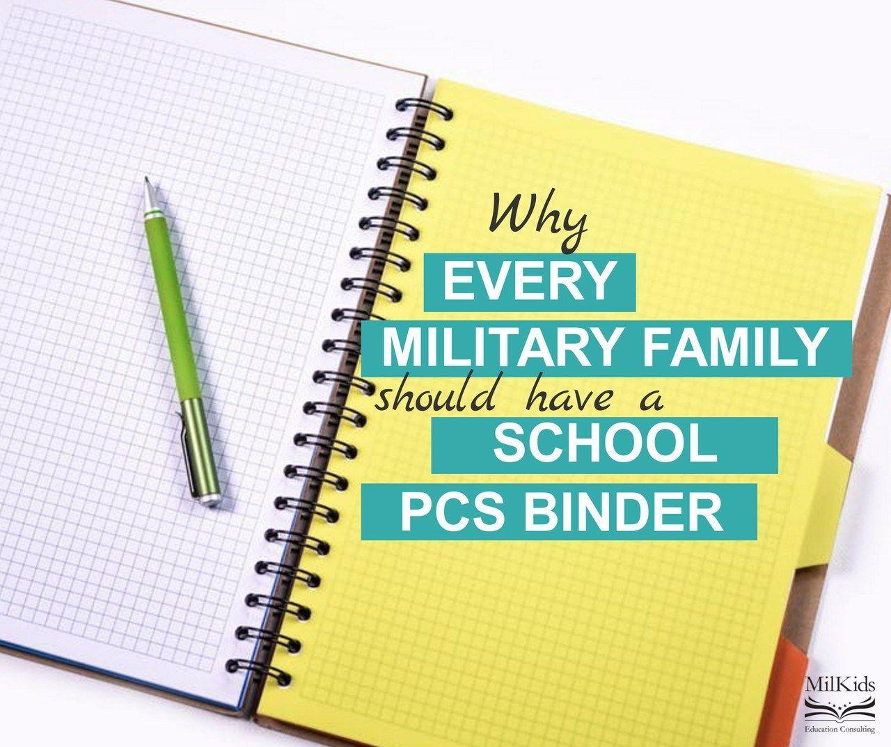 Every MilFam Should Have A School PCS Binder