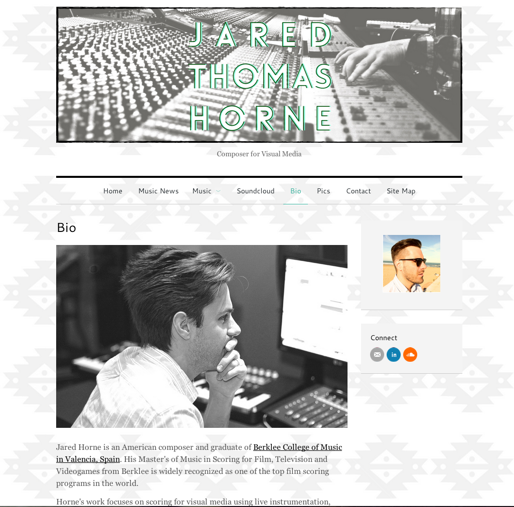 Simple, Creative Website Design Musician Composer Web