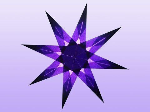 Lila 8 Zacken Sterne Aus Transparentpapier Basteln Sterne