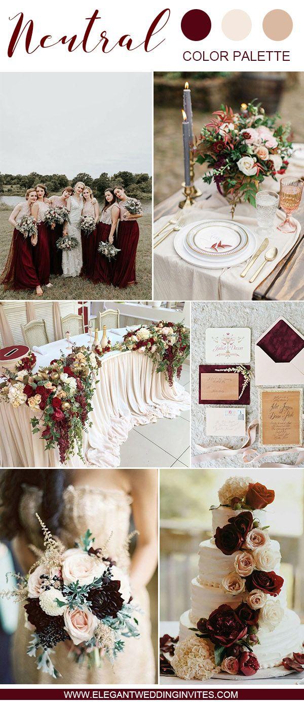 10 Swoon-Worthy Neutral Wedding Color Palette Ideas   Wedding ...