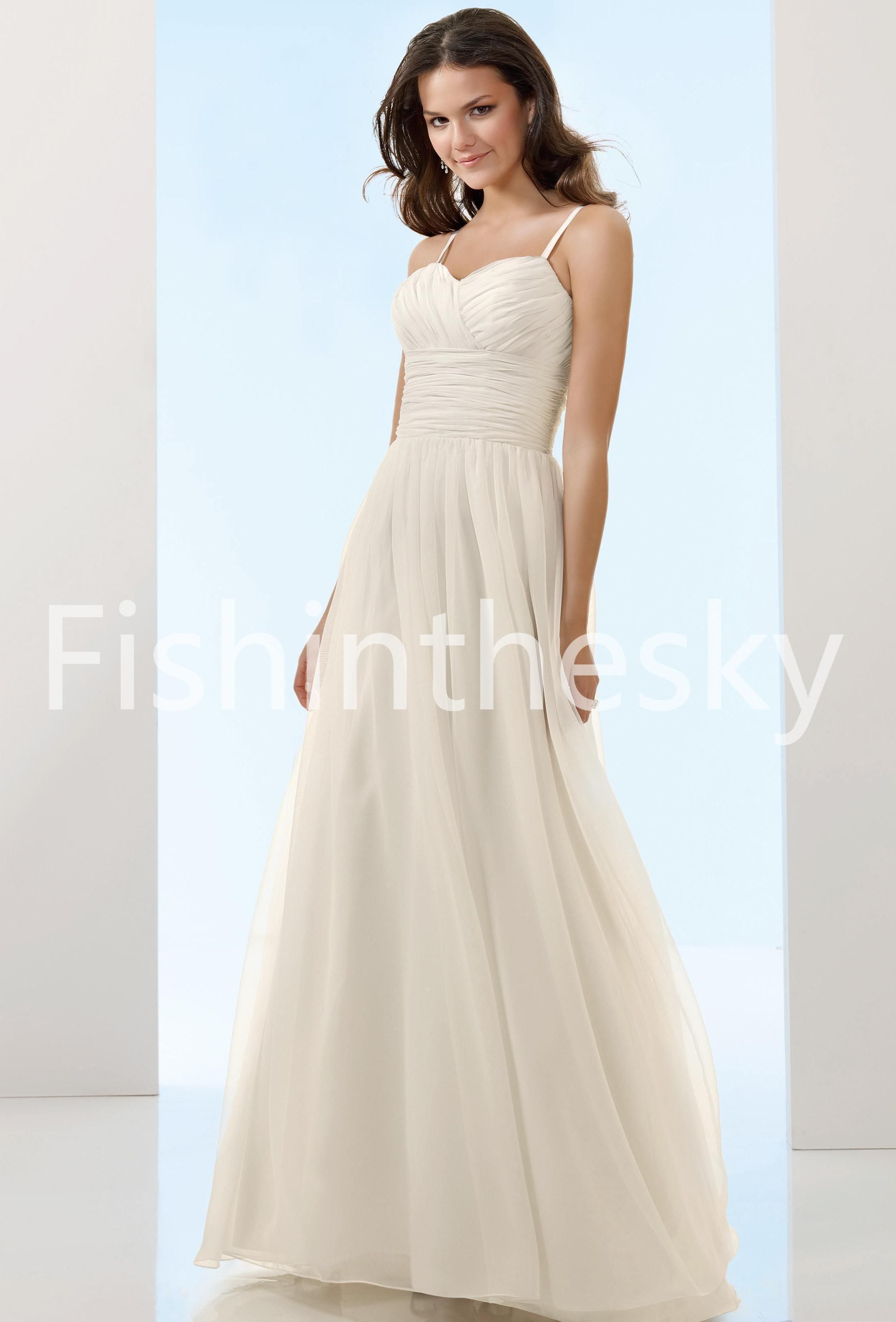 Chiffon wedding dresses  Empire Sweetheart Court Chiffon Bridal Gowns  Wedding Gowns