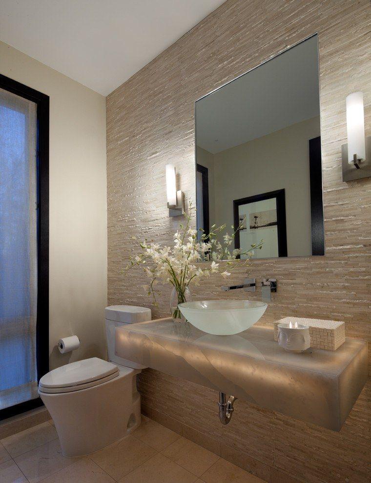 20 Amazing Textured Wallpaper Ideas Small Bathroom