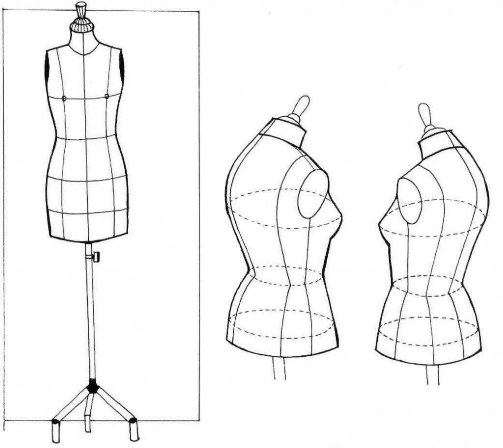 Рисуем манекен с одеждой