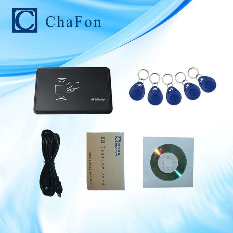125 khz RFID ID EM Card Reader & Writer e Copier/Duplicatore (T5557/EM4305/4200) con 5 pz tag chiave per il Controllo di Accesso