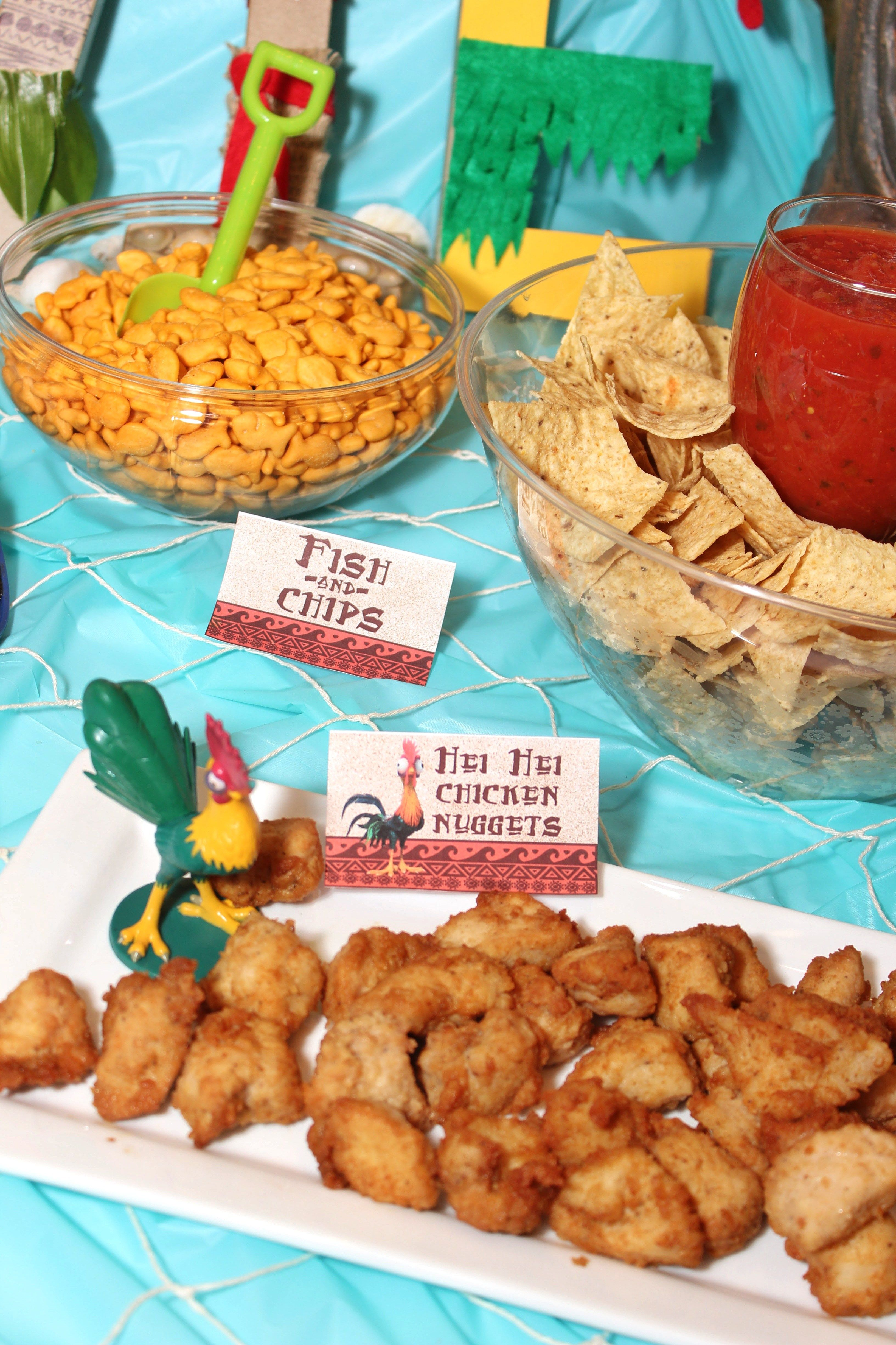 Moana Birthday Party Ideas With FREE Printables Food Menu Cupcake Pictures Activities