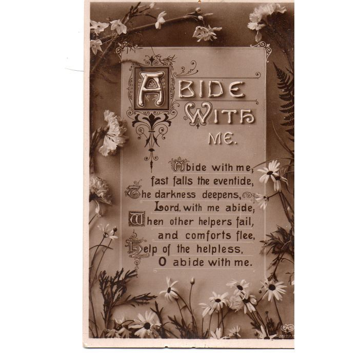 EAS Rhyme Song Postcard Abide with me Listing in the