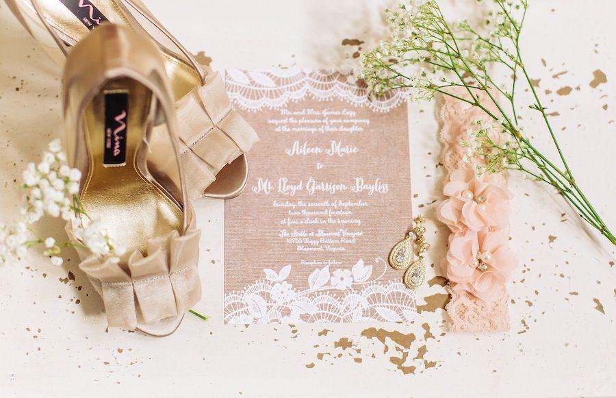 Rustic Pink Wedding at a Virginia's Bluemont Vineyard | Washingtonian
