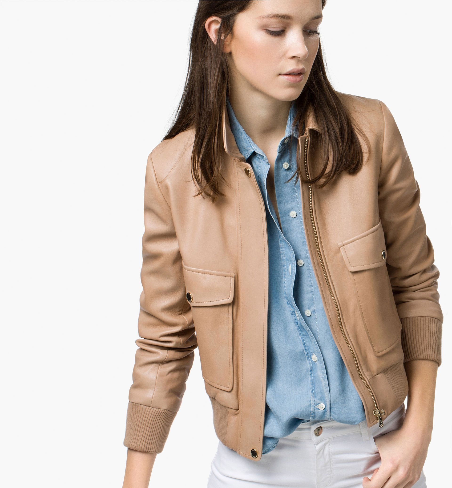 Massimo Dutti, BOMBER JACKET - Leather jackets | The Coat ...