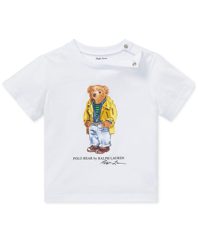 1ab715d6 Polo Ralph Lauren Baby Boys Polo Bear Cotton T-Shirt | Toddler Boy ...