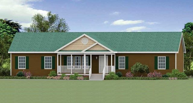 The Oakboro Modular Home Modular Home With Green Roof And Brown Siding Green Shutters House Exterior Green Shutters Custom Homes