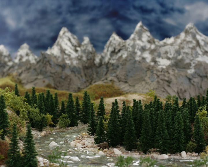 diorama - forrest / mountain miniature   mountain dioramas