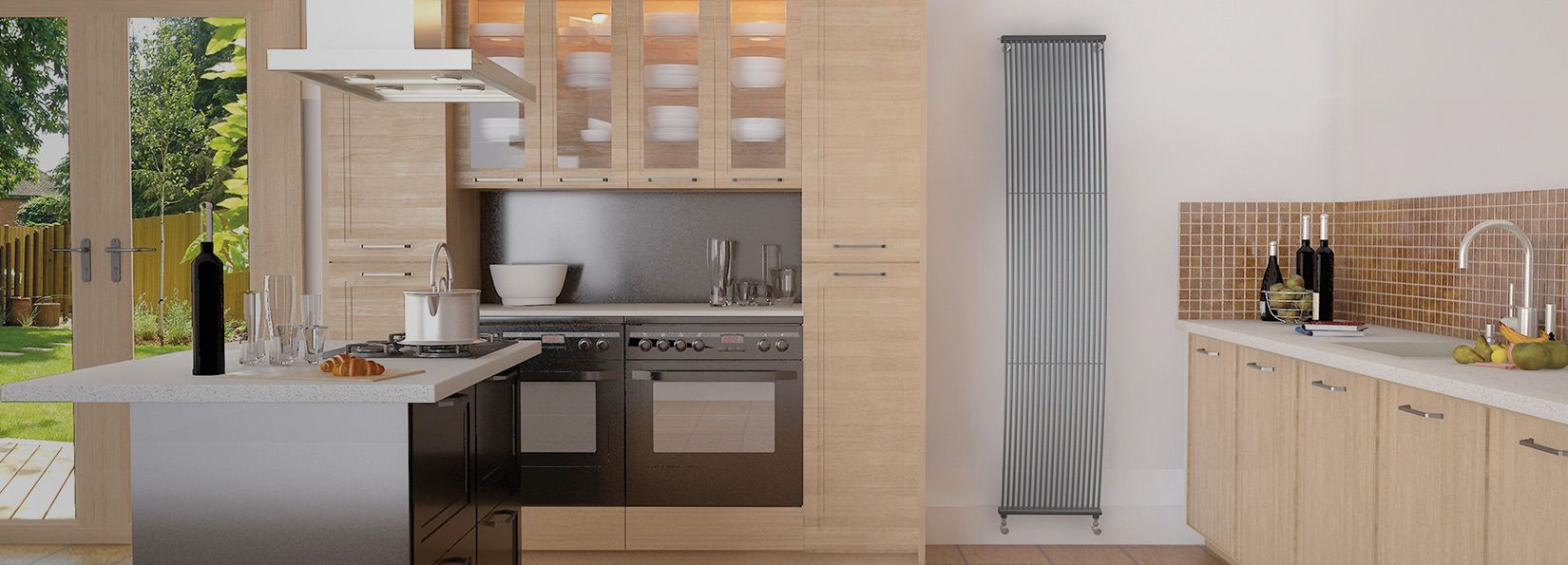 Vertical radiator in kitchen google search kitchens - Designer vertical radiators for kitchens ...