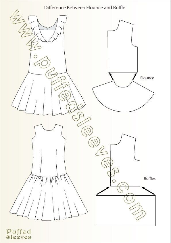 What is the difference between flounce and ruffle | costuras ...