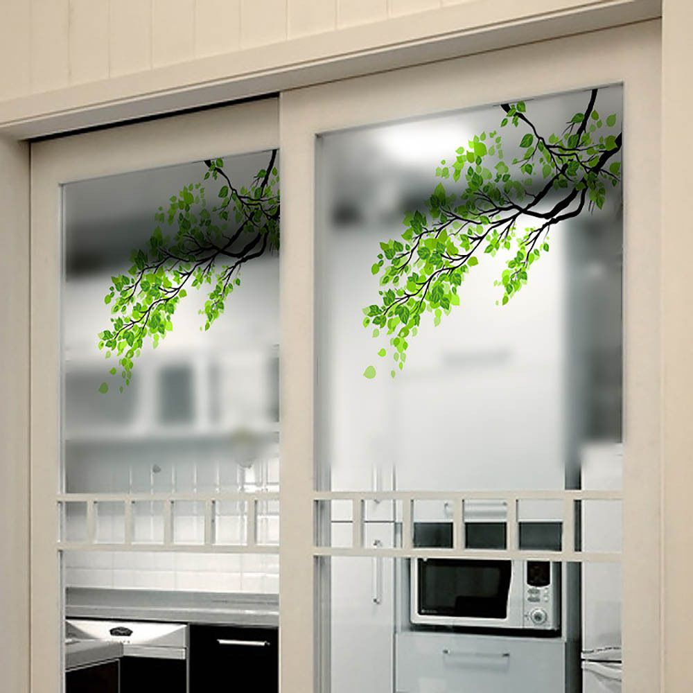Window decor stickers  diy self adhesive privacy office home bedroom frosted glass film