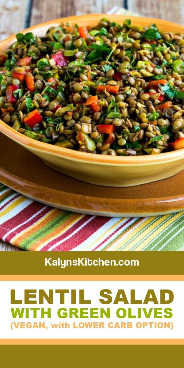 Lentil Salad With Green Olives Kalyn S Kitchen Recipe Lentil Salad Recipes Green Lentil Recipes Lentil Recipes