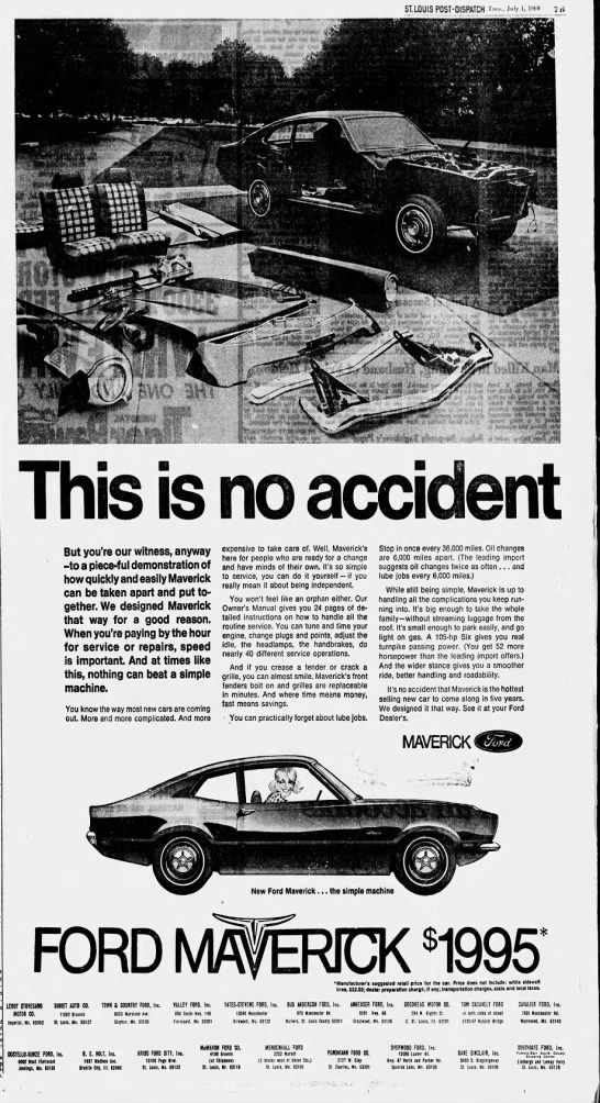 1969 Stl Ford Dealers Ad Muscle Car Ads Stl Ford