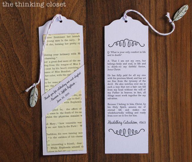 wedding book mark