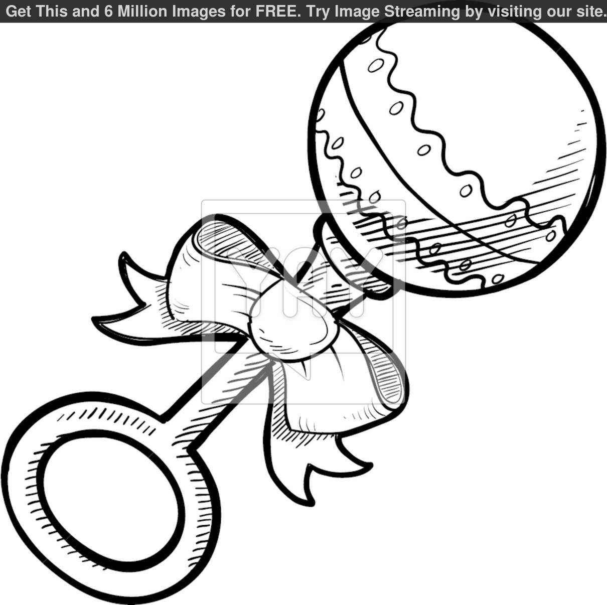 Baby Rattle Coloring Pages Baby Coloring Pages Baby Rattle