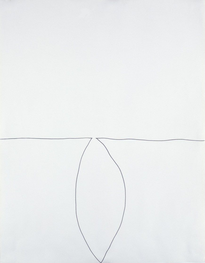 Ellsworth Kelly, One Stroke, 1962. Graphite on paper, 28 1/2 x 22 1/2 inches (72.4 x 57.2 cm)