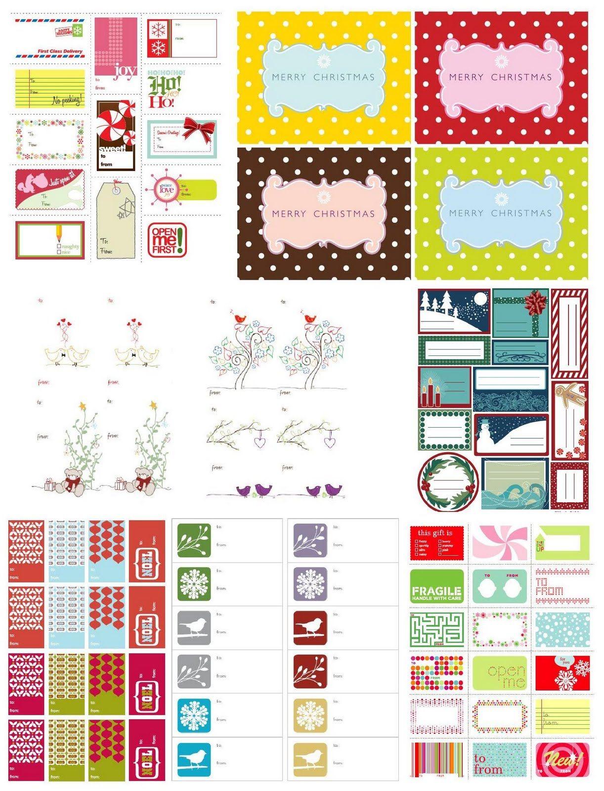 Free Printable Christmas Tags Christmas Winter Pinterest