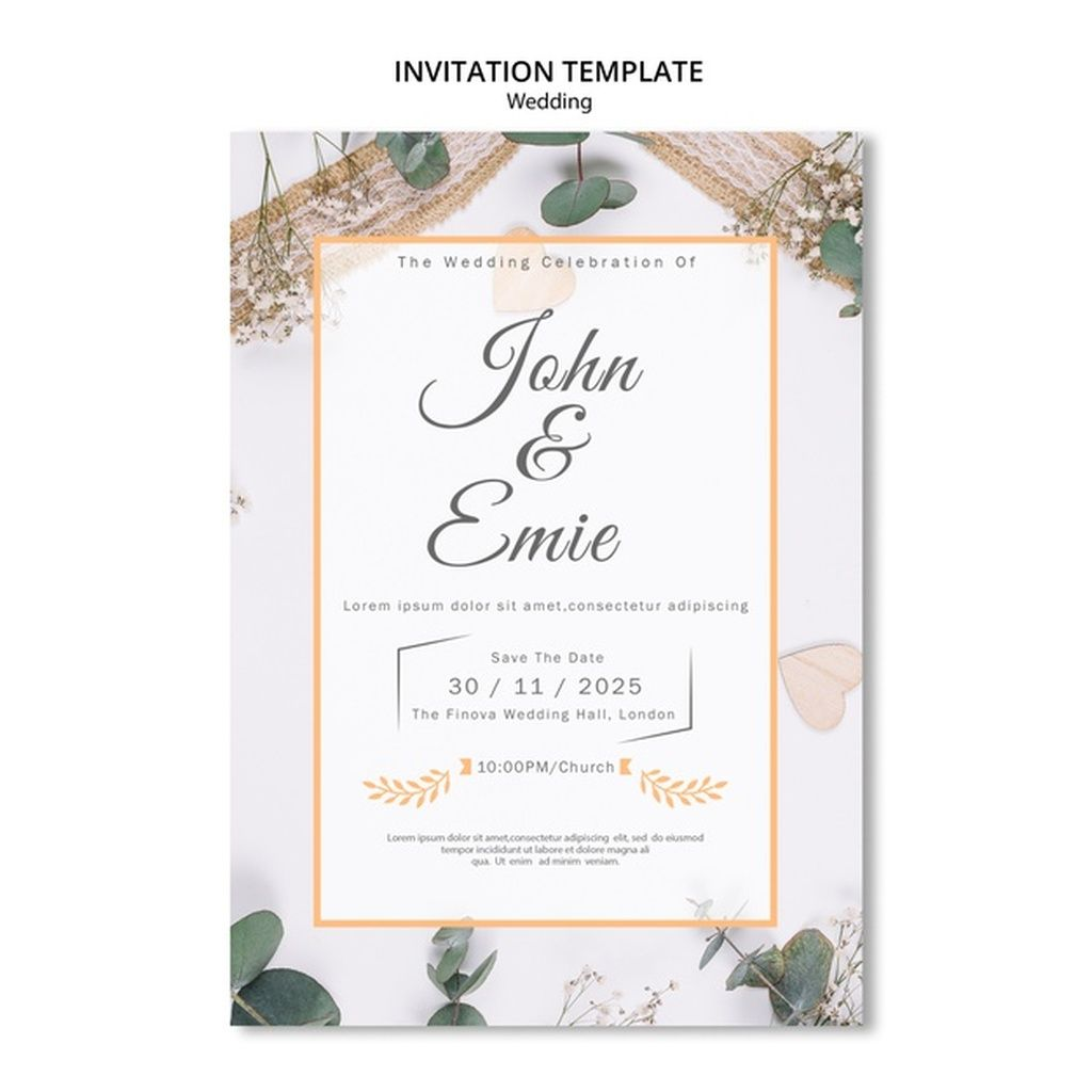 Beautiful Wedding Invitation With Pretty Ornaments Paid Ad Ad Wedding Or Beautiful Wedding Invitations Wedding Invitation Vector Wedding Invitations