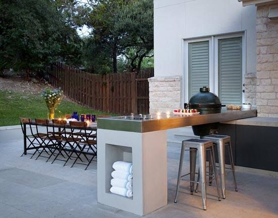 Outdoor Kitchen Grill Dining