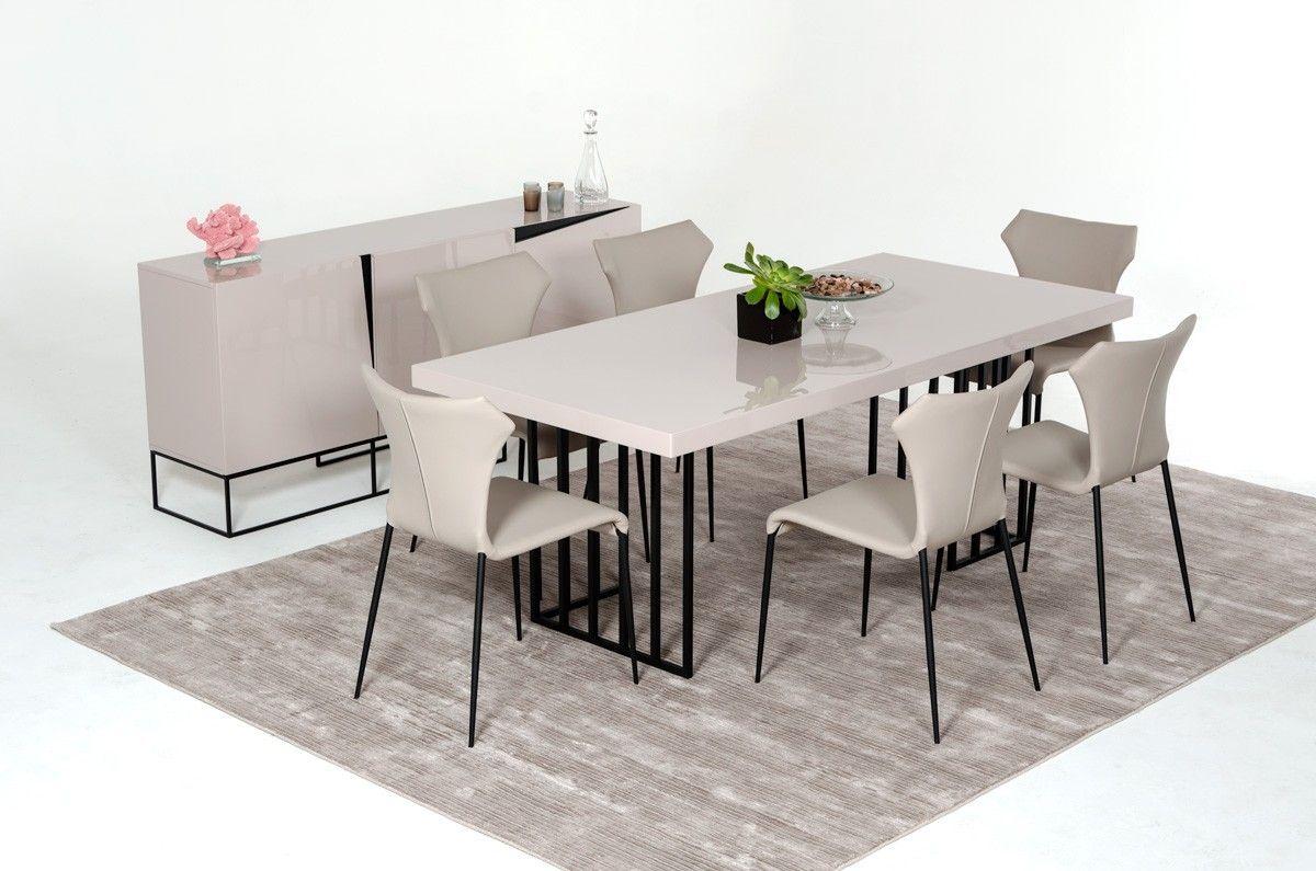 Modrest Hope Modern Grey Gloss Dining Table