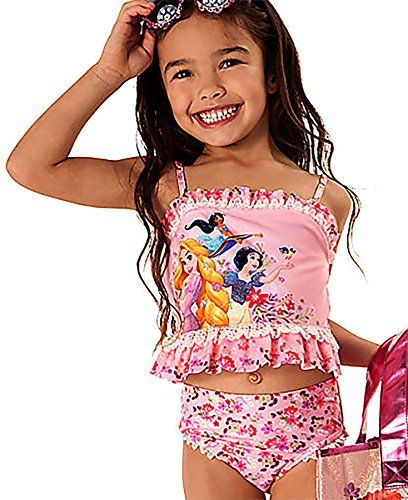 876e3f6381c40 Amazon.com: Disney Store Little Girls' Disney Princesses Glitter Accents  Deluxe Swimsuit: Clothing