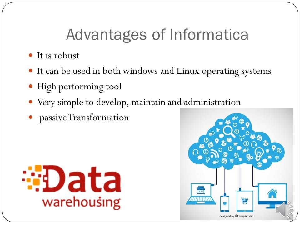 Advantages of informatica linux operating system data