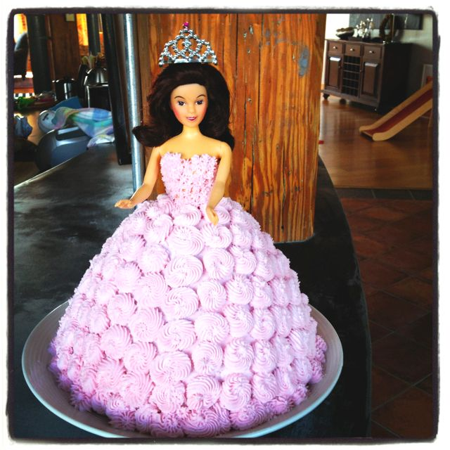 Barbie princess cake - inspired by one on birthday board