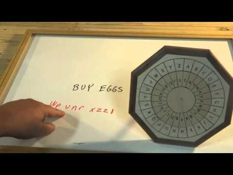 Cipher Wheel 01 Shift Cipher Youtube Cipher Wheel Lettering Coding