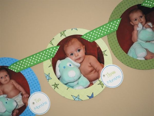 1st year Birthday Banner with Pictures