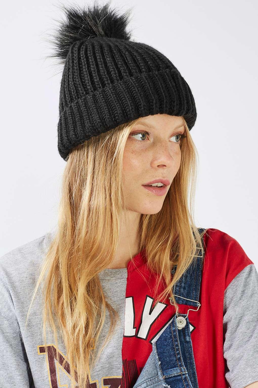 Faux Fur Pom-Pom Beanie Hat - Bags   Accessories- Topshop 013671eac25