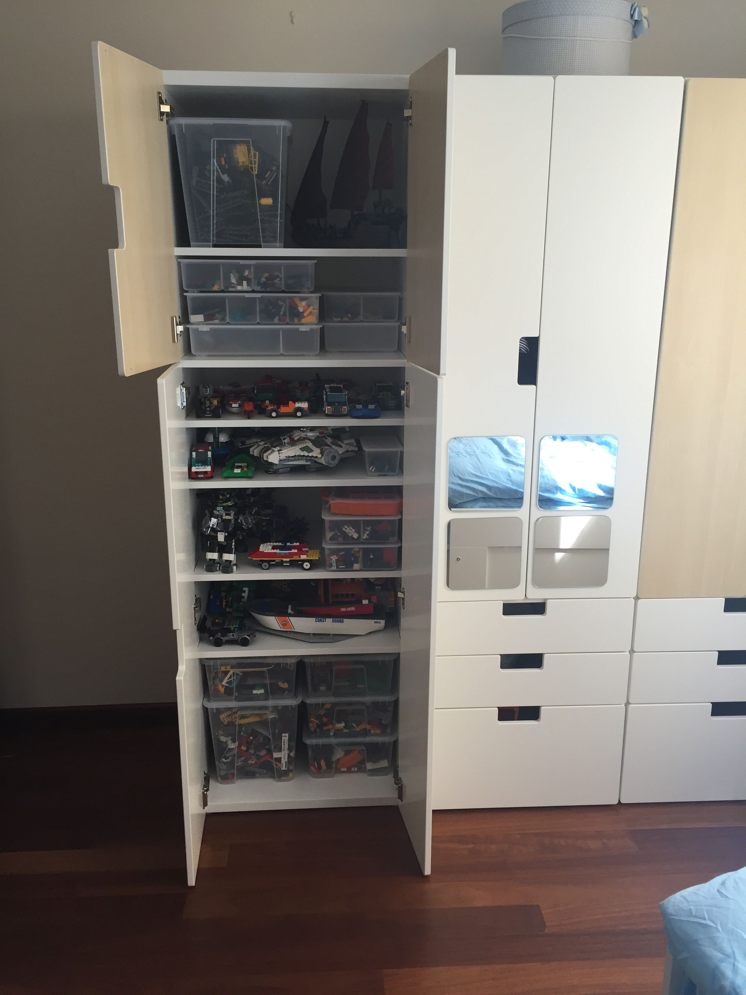 lego storage with ikea stuva johann. Black Bedroom Furniture Sets. Home Design Ideas