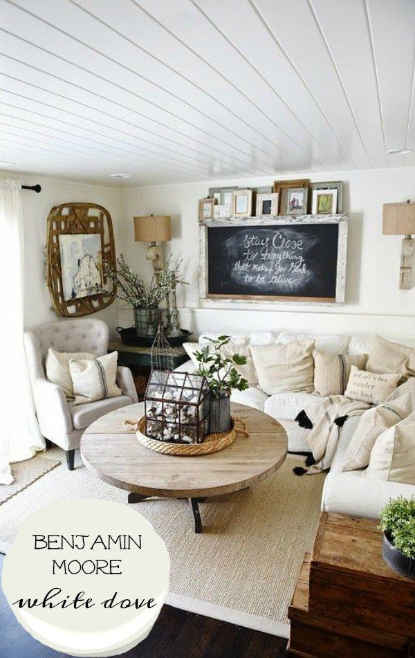 10+ Stunning Rustic White Living Room