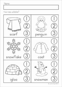 winter literacy worksheets and activities no prep my tpt products literacy worksheets. Black Bedroom Furniture Sets. Home Design Ideas