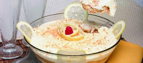 Creme de limão com bolachas - TeleCulinária Receitas de Culinária - TeleCulinária Receitas de Culinária